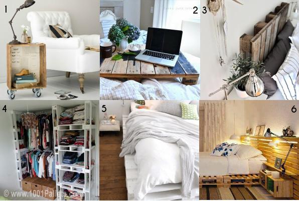 Idee per una stanza da letto economica ed ecologica for Arredamento pallets